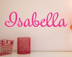 Personalized Childrens Wall Decal  Girls Name Wall by NewYorkVinyl