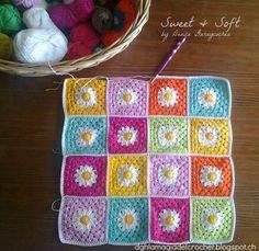 La Magia del Crochet: SQUARE DE FLORES