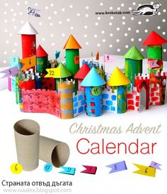 Christmas Activities For Children Advent Calendar Advent Calenders, Diy Advent Calendar, Christmas Activities For Kids, Kids Christmas, Children Activities, Diy Paper Christmas Tree, Christmas Crafts, Toilet Paper Roll Crafts, Paper Crafts