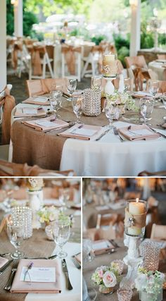 Pink Princess Meets Country Queen: Burlap & Bling: The Perfect Southern Wedding. Use  your own wedding colors as accents!