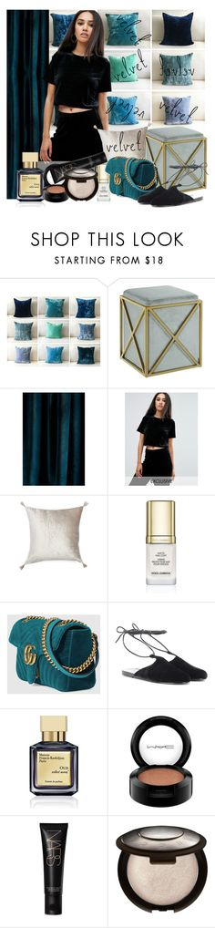"""""""Marmont"""" by alejandra-soraires on Polyvore featuring moda, Chic Home, Anthropologie, Missguided, Nordstrom, Dolce&Gabbana, Gucci, Ancient Greek Sandals, Maison Francis Kurkdjian y MAC Cosmetics"""