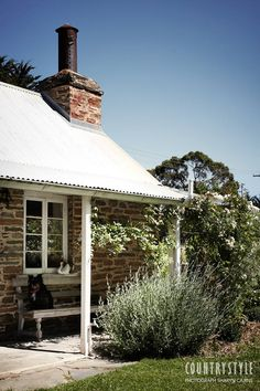 Country Style magazine. At this mid 19th-century cottage in at Woodside, South Australia, the light and the landscape provided inspiration for the owners, an artist and a furniture designer. Photography Sharyn Cairns, styling Indianna Foord ‪#‎countrystylemag‬ #countryhouse #porch #verandah