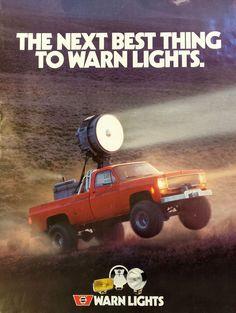Vintage WARN Lights poster