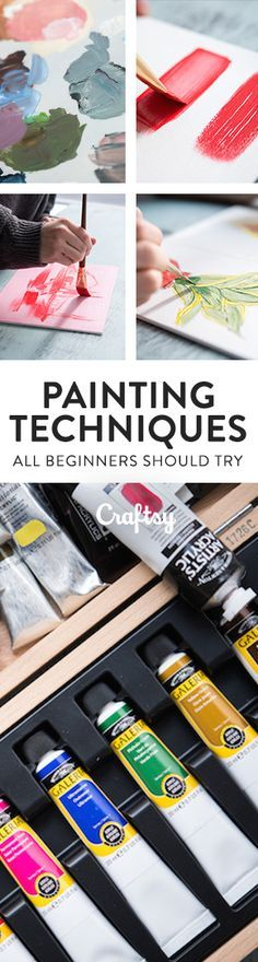 Here s a guide to acrylic painting techniques for beginners that will help you Here s a guide to acrylic painting techniques for beginners that will help you begin your artistic journey Craftsy Acrylic Painting For Beginners, Acrylic Painting Techniques, Painting Lessons, Art Techniques, Art Lessons, Painting & Drawing, Painting Abstract, Abstract Landscape, Decoupage Vintage