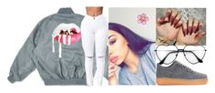 """drip in my walk ."" by qveenkyndall16 ❤ liked on Polyvore featuring NIKE"