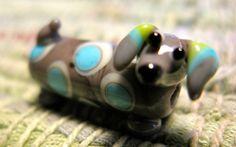 Dachshund Beads by JamiesBeads on Etsy. $15.00, via Etsy.