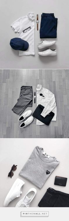 Outfit Grids For Minimalist. #outfitideas #mensfashion