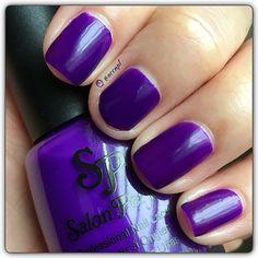 "Two coats and no top coat of Salon Perfect's ""A Royal Affair"".  #SalonPerfect #nails #swatches #nailpolish . Instagram: accnpl"