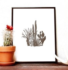 Cactus No. 2 print | Odd Daughter Paper Co