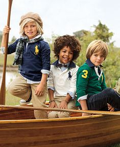 Ralph Lauren Little Boys Rugby Shirt, Striped Oxford Shirt, Preston Pants & Suffield Pants