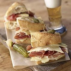 Everything you need to create a Spanish bocadillo sandwich at home in minutes - Galician bread, jamon Serrano and Zamorano cheese. La Tienda offers the best of Spain delivered to you.  Free catalog.