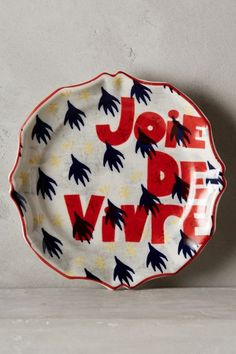 Dish it up on pinterest dinnerware plates and anthropologie for Calligrapher canape plate anthropologie