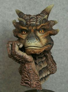 """Here is a dragon heart """"Draco"""" bust that I painted. - Here is a dragon heart """"Draco"""" bust that I painted. Bust is 7 """"tall. Magical Creatures, Fantasy Creatures, Fantasy Dragon, Fantasy Art, Dragon Heart, Dragon Artwork, Dragon Pictures, Sculpture Art, Fairies"""