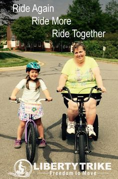 """Nana Riding Her Liberty Trike! """"This is a game changer for people like my mom""""  #libertytrike"""