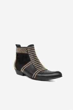 b1a75fccb2c ANINE BING Charlie Boots with Gold Studs Chaussures À Talons