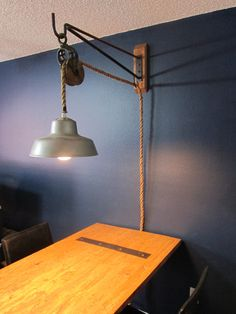 Wall Mount Pulley Light. $150.00, via Etsy.