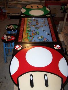Mario beer pong table
