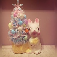 New! Kitschy Easter Planter with Easter Tree!
