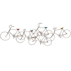 Curtis Jere Bikes Wall Sculpture