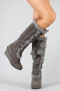We have the latest styles of Women's Shoes in stock. Check back regularly for new styles and extra savings! Lace Up Wedge Boots, Knee High Wedge Boots, Lace Wedges, Thigh High Boots Heels, Heeled Boots, Flat Boots, Cute Shoes, Me Too Shoes, Nylons
