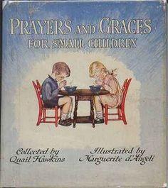 Prayers and Graces for Small Children - illus. Marguerite De Angeli