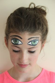 Face painting with Rowan by Hazel Terry, via Flickr | cute to do for halloween