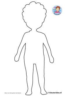 een jongen lichaam kleurplaat thema mijn lichaam