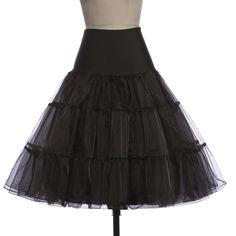 Tutu Skirt Silps Swing Rockabilly Petticoat Underskirt Crinoline Fluffy Pettiskirt For Wedding Bridal Retro Vintage Women Gown