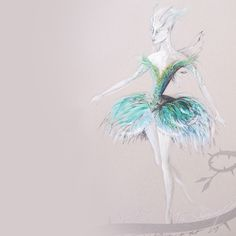 The Australian Ballet. Costume design for a nymph in Sleeping Beauty by designer Gabriela Tylesova. 2015.