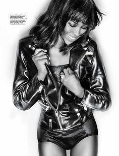 Naomi Campbell Poses for Gan in Harpers Bazaar Singapore January 2014