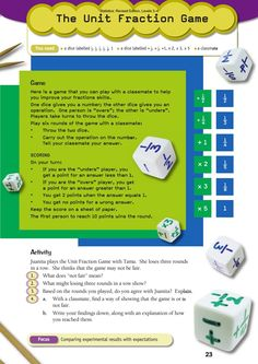 Unit fraction game- lots of teaching ideas if you look around this site