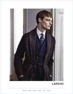 Lardini taps Roberto Sipos as the star of its fall-winter 2017 campaign.