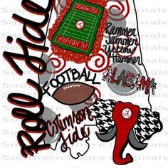 Roll Tide Football, Alabama Football, Alabama Elephant, Elephant Outline, University Of Alabama, University Logo, Sublime Shirt, Printable Designs, Alabama Crimson Tide