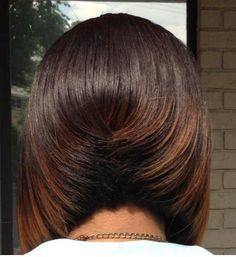 Loving this cut! Dope Hairstyles, Short Bob Hairstyles, Graduated Haircut, Short Hair Cuts, Short Hair Styles, Blonde Balayage Bob, Hair Affair, Flat Iron, Great Hair
