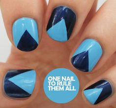 One Nail To Rule Them All: Blue Triangles