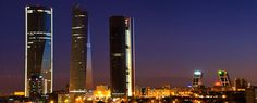 Ther four Towers of #Madrid, #Spain