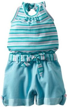 Little Lass Baby-girls Infant 1 Piece Romper With Cute Stripes, Turquoise, 12 Months Little Lass. $12.00