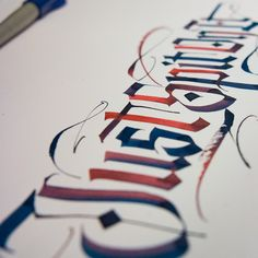 """""""Just Spit on it"""" created with a Pilot Parallel (Calligraphy) Pen - kossyo    calligraphi.ca"""
