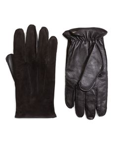 Brooks Brothers Men's Leather and Suede Touch Screen Gloves