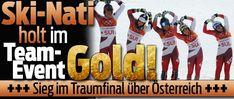 Team Event 24-Feb-2018 > SCHWEIZ gewinnt #GOLD !! Pyeongchang, Skiing, Sports, Gold, Switzerland, Football Soccer, Ski, Hs Sports, Sport