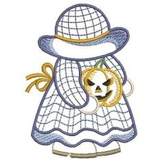 Monthly Sunbonnet Sue, October - 3 Sizes! | Halloween | Machine Embroidery Designs | SWAKembroidery.com Ace Points Embroidery