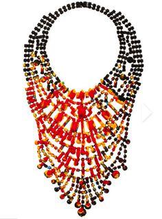 Tribal… spring trend… Tom Binns… statement… necklace… outstanding.