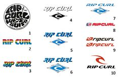The evolution of the Rip Curl logo