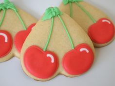 Merry, Merry, Take a Cherry: Cherry Sugar Cookies from a Heart Cutter Cookie Desserts, Holiday Desserts, Cookie Jars, Fun Desserts, Cookie Recipes, Cookie Cutters, Cut Out Cookies, Cute Cookies, Cupcake Cookies