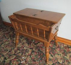 Tell City Maple Andover Dough Box Lamp End Table Chest
