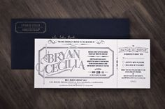 gorgeous wedding invite with ticket stub rsvp nothing can replace letterpress wedding invitation packages