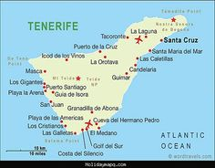 awesome Map of Tenerife