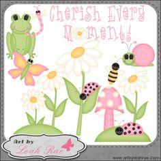 Cherish Every Moment 1 - Art by Leah Rae Clip Art : Digi Web Studio, Clip Art, Printable Crafts & Digital Scrapbooking!