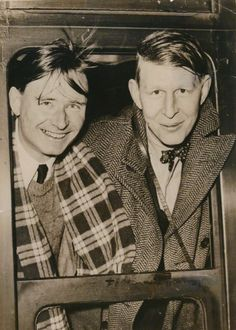 loverofbeauty:  Christopher Isherwood and W.H. Auden, leaving England