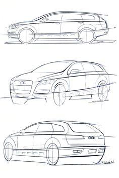 OG |Audi A6 Avant | Design sketch dated 2002